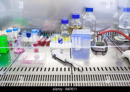 Laboratoire de chimie (tons de couleur peu profondes de l'image 6) Banque D'Images