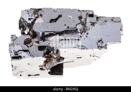 Échantillon de galène isolées en pierre Banque D'Images