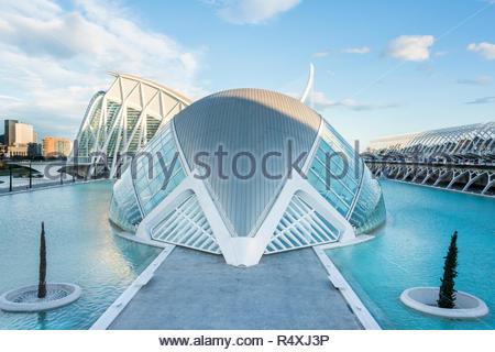 La Cité des Arts et des Sciences de Valence Banque D'Images
