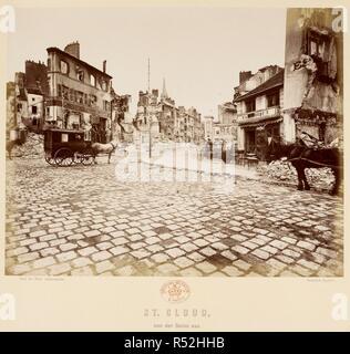 Saint-cloud à partir de la Seine. 1870. L'albumine. Guerre franco-prussienne. Source: Maps 184.P.1 (44). Auteur: Lucke, Ernest. Banque D'Images