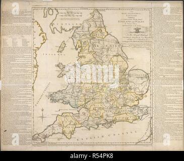 Jeu Carte Angleterre.Une Carte D Angleterre Et Du Pays De Galles Pour L