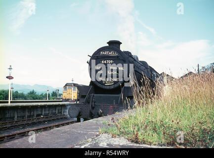 5 Aucun noir 44709 à la gare de Windermere, Windermere, fin de la vapeur en 1968, en Angleterre Banque D'Images