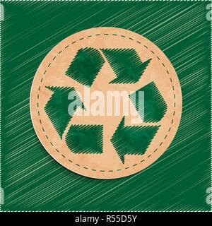 Autocollant recyclage Banque D'Images