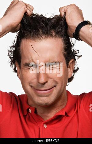 Portrait of mid adult man Banque D'Images