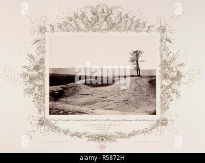 Les hauteurs de Saarbrucken, pris par les Prussiens le 6 août 1870. 1870. L'albumine. Guerre franco-prussienne. Source: Maps 184.P.1 (8). Auteur: ANON. Banque D'Images