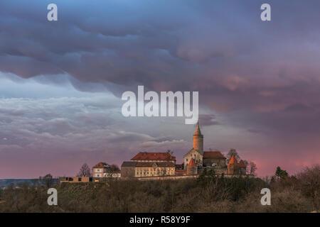 Szinérváralja, orages, nuages Mammatus, coucher de soleil, Thuringe, Allemagne