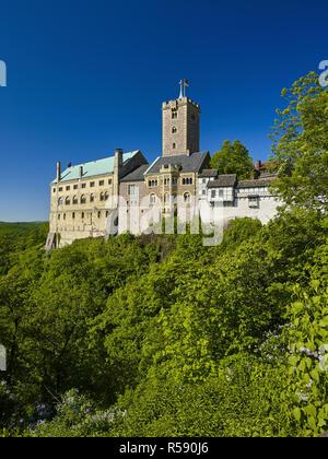 Château de Wartburg à Eisenach, en Thuringe, Allemagne Banque D'Images