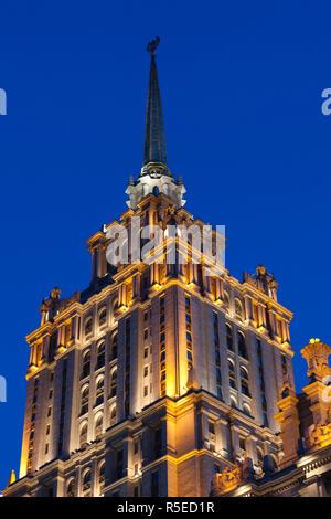 La Russie, Moscou, Presnya-salon, Ukraina Hotel, l'un des bâtiments des sept Sœurs de Staline Banque D'Images