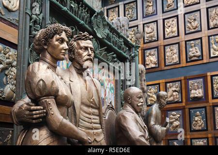 La Russie, Moscou, Presnya-salon, Studio de Zurab Tsereteli, Fédération de super-artiste, sculptures Banque D'Images