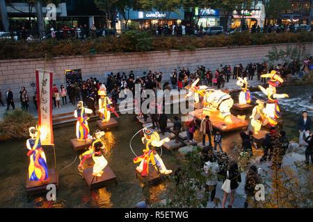 La Corée du Sud, Séoul, Fête des lanternes qui a lieu chaque année en novembre Banque D'Images