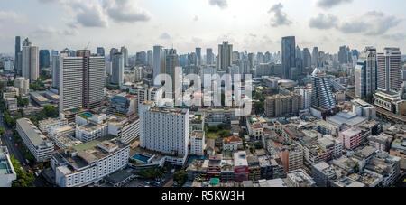 Panorama de la ville de Bangkok, Sukhumvit Nana et photographie aérienne Banque D'Images