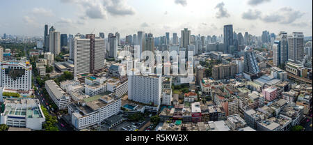 La ville de Bangkok, Panorama et Nana Sukhumvit Road, la photographie aérienne Banque D'Images