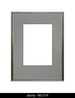 Cadre photo ou photo d'argent avec un carton mat Banque D'Images