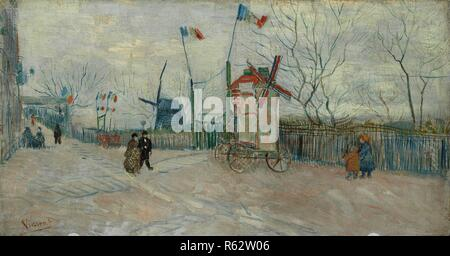 Impasse des Deux Frères. Date: février 1887, Paris. Dimensions: 35,0 cm x 65,5 cm, 50,7 cm x 81,2 cm. Musée: Musée Van Gogh, Amsterdam. Auteur: VAN GOGH, Vincent. VINCENT VAN GOGH.