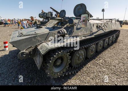 Forum technique militaire international-2018 de l'armée. Le 9P149 Shturm-S est un chasseur de chars basé sur le châssis du MT-LB