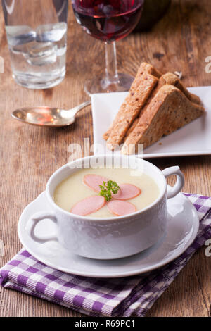 Soupe de pommes de terre Banque D'Images