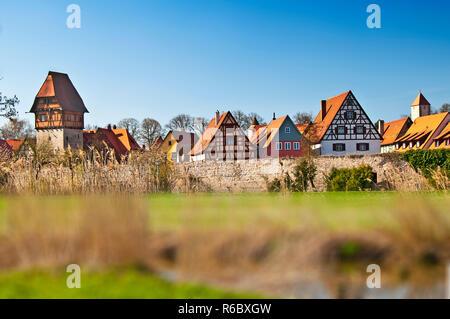 Dinkelsbuehl Vieille Ville en Allemagne Banque D'Images
