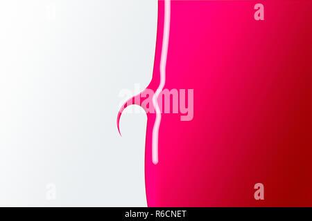 Vernis à ongles rose brillant avec une forme de griffe Banque D'Images