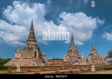 Grande tête de Bouddha en pierre dans Fig Tree Roots, Wat Mahathat, Ayutthaya, Thaïlande, Asie du Sud, Asie
