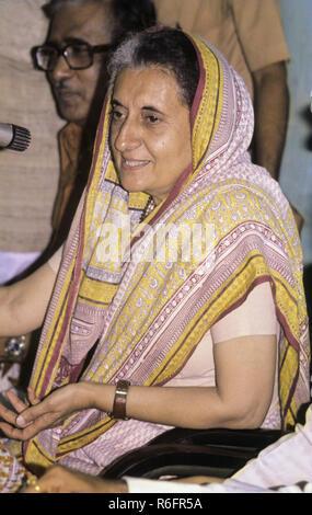 Homme politique indien d'Asie du sud et de l'ancien premier ministre de l'Inde l'Inde, Indira Gandhi en retard, PAS DE MONSIEUR Banque D'Images