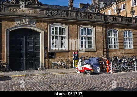 Le Musée National, Copenhague, Danemark, Scandinavie. Musée est situé dans le Palais du Prince, construit en 1743-44.