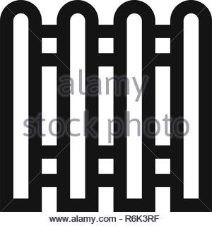 Icône vecteur clôture Banque D'Images