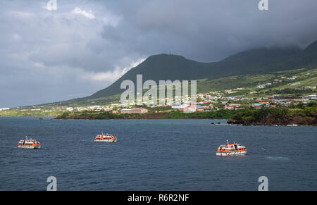 Voir l'approche de Port Zante Basseterre, Saint Kitts