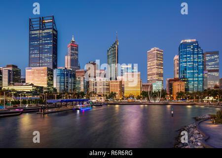 Elizabeth Quay, Esplanade Perth, Australie occidentale. Banque D'Images