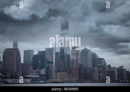 Tempête à Manhattan.