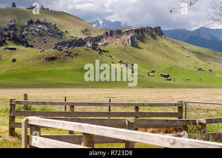 Castle Rock, l'île du Sud, Nouvelle-Zélande Banque D'Images