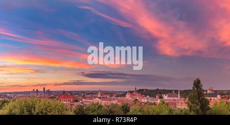 Panorama de la vieille ville, à Vilnius, Lituanie