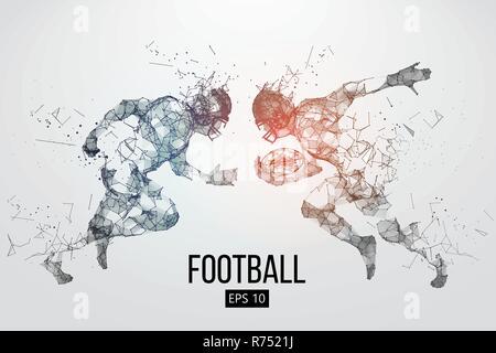 Silhouette d'un joueur de football américain. Rugby. Vector illustration