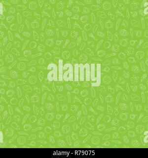 Image de fond transparente avec diverses icônes de légumes sur fond vert vector illustration Banque D'Images