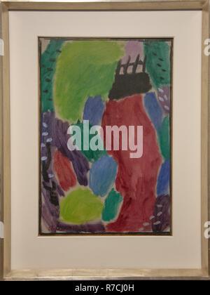 'Spring/twilight' de Alexej von Jawlensky, GEM, Gemeentelijk Museum Den Haag, Pays-Bas Banque D'Images