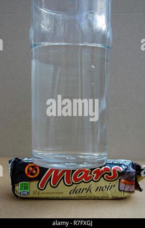 La première photographie de l'eau sur Mars Banque D'Images
