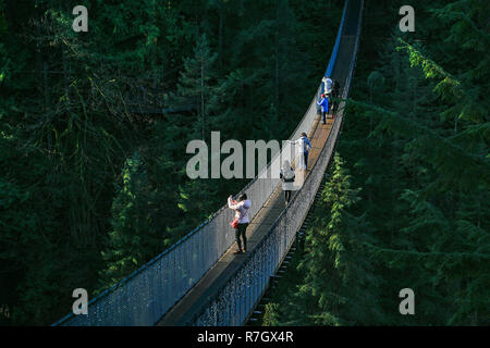 Capilano Suspension Bridge Park, North Vancouver, Colombie-Britannique, Canada Banque D'Images