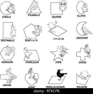 Les Formes Geometriques En Vedette Des Animaux Banque D Images
