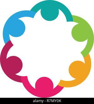 Réseau social, communautaire et modèle de conception de l'icône Banque D'Images