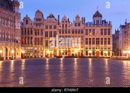 Grand Place la nuit à Bruxelles, Belgique