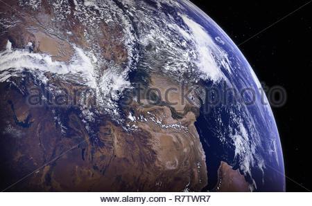 Image manipulée numériquement de l'Himalaya, l'Inde, le Pakistan et l'Afghanistan à partir de l'espace Banque D'Images