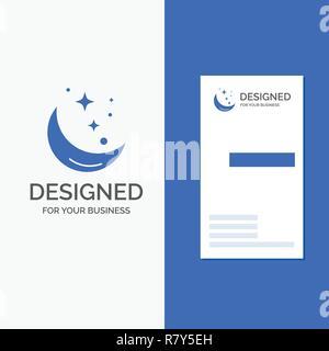 Logo Design Concept Busienss Dentreprise Pour La Lune Nuit Star Le Temps L
