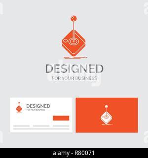 Logo Dentreprise Modele Pour Arcade Jeu Jeux Joystick Stick