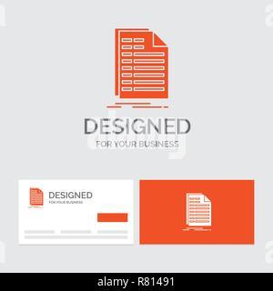 Cartes De Visite Orange Avec Logo Marque Template Dentreprise Modele Pour Bill Excel Fichier Facture Declaration