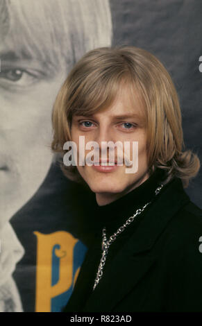 PETER HOLM la chanteuse pop suédoise et suédois qui a été playboy marié à l'actrice Joan Collins 1985-1987. Banque D'Images