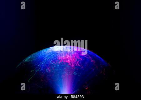 Abstract motion bannière sur fond sombre Banque D'Images