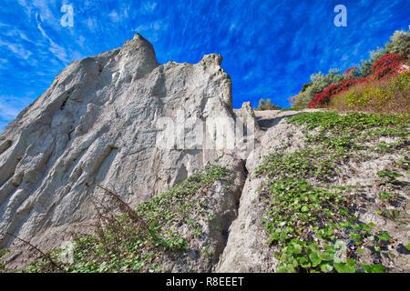 Toronto, Scarborough Bluffs panoramique face à l'Ontario Lake Shore