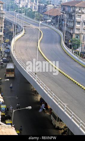 JJ À V.T Flyover bridge, Bombay Mumbai, Maharashtra, Inde Banque D'Images