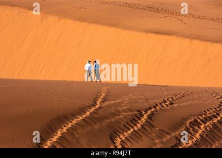 Dans les dunes du Namib Sossusvlei au cœur de la Namibie, l'Afrique