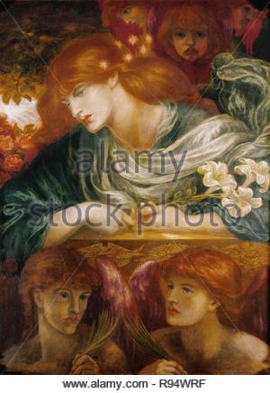 La Bienheureuse Damozel. (1875-1879). Auteur: Dante Gabriel Rossetti. Emplacement: Levier Dame Art Gallery, Port Sunlight, Grande-Bretagne. Banque D'Images
