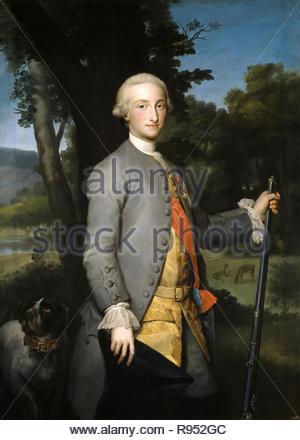 """Anton Rafael Mengs / 'Charles IV, Prince des Asturies"""", ca. 1765, l'école allemande, huile sur toile, 152,5 cm x 111 cm, P02188. Musée: Musée du Prado. Banque D'Images"""